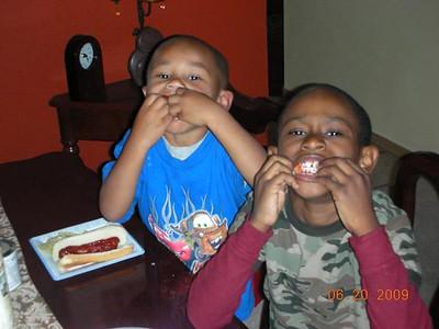 Regina and Grandsons in Seattle 062009
