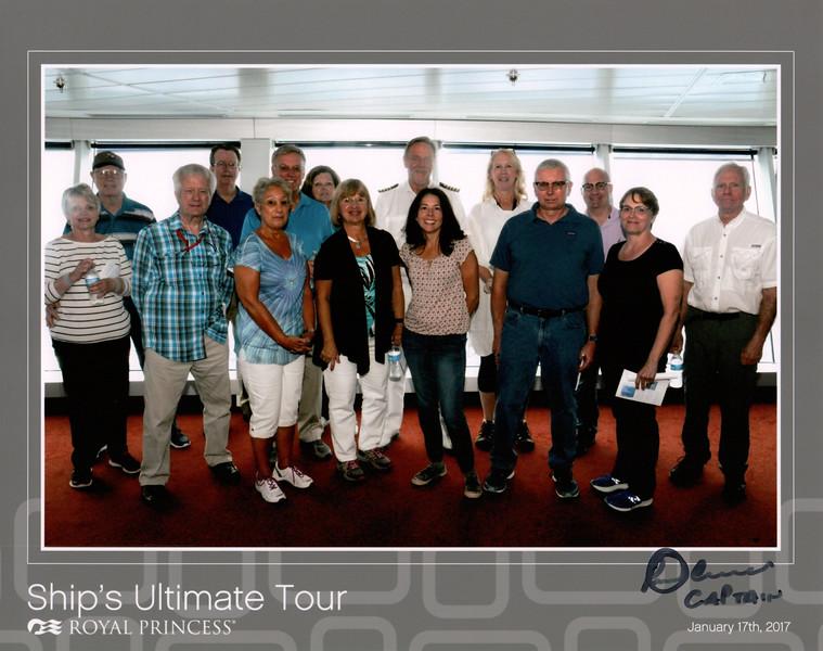 Tuesday, Jan 17 - At sea, 3 hour ship tour