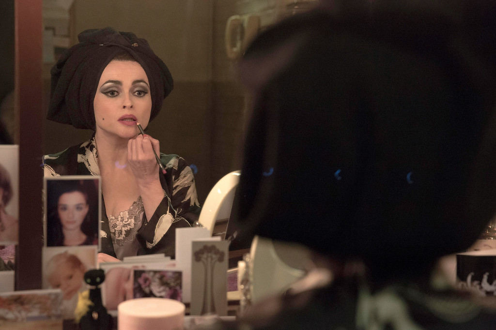 """. This image released by BBC America shows Helena Bonham Carter as Elizabeth Taylor in a scene from \""""Burton and Taylor.\"""" Carter was nominated for an Emmy Award for best actress in a miniseries or movie on Thursday, July 10, 2014. The 66th Primetime Emmy Awards will be presented Aug. 25 at the Nokia Theatre in Los Angeles. (AP Photo/BBC America, Leah Gallo)"""