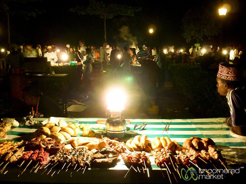 Street Food at Forodhani Night Market - Stone Town, Zanzibar