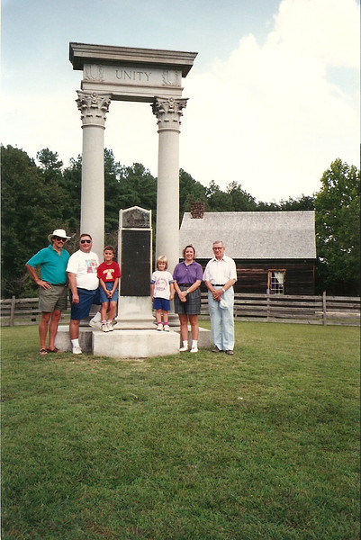Ed, John, Johnny, Anna, Jan, Daddy at Bennett Place in Durham     9/94
