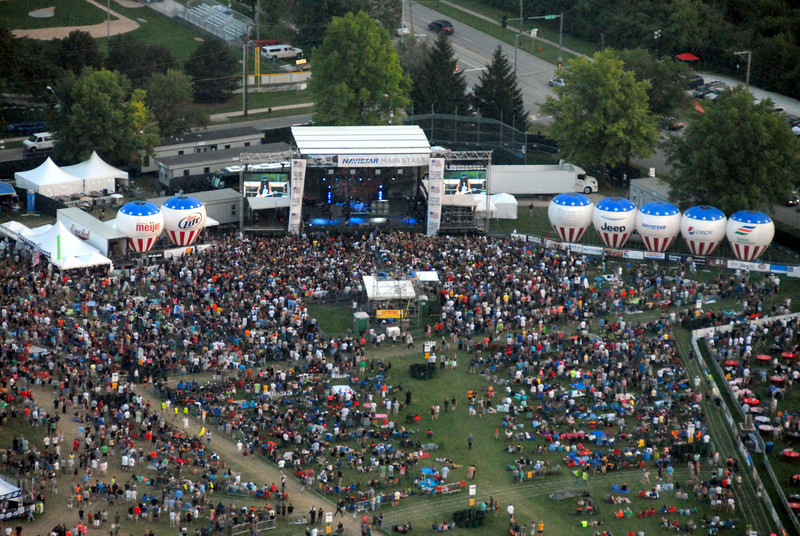 Ribfest - Naperville, Illinois - July 3-7, 2013 - Aerial View of Ribfest