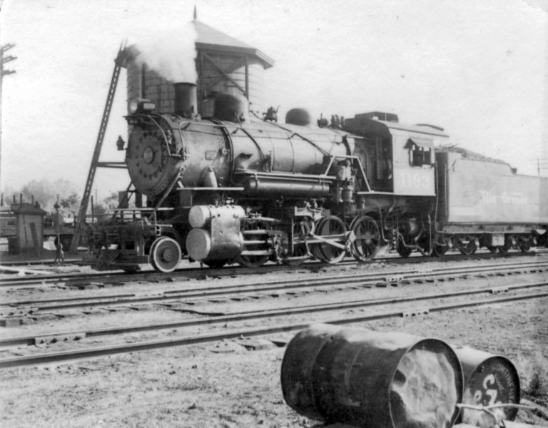 D&RGW 2-8-0 no. 1193 waits for its return trip to Salt Lake City. (Bob Smith Photo)