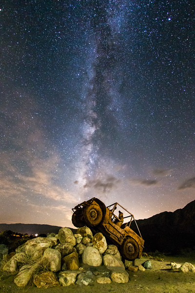 Jeep ride into the Milky Way