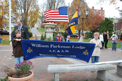 Wm Parkman Marches in Veterans Day Parade Winchester 2009