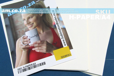 SKU: H-PAPER/A4, Heatware A4 100g White Sublimation Paper for Hard-Surface and Light Colour Poly-Fabric Heat Transfer