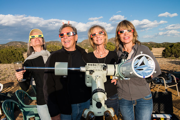 Rixon and Vicki's Eclipse Party - Santa Fe NM