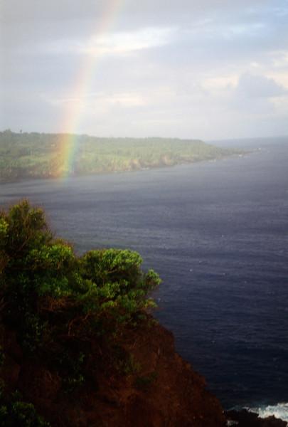 Rainbow over Hana
