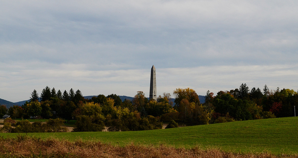 . Erica Miller - The Saratogian     A view of the Saratoga Monument as the fall foliage gets people out in  the Adirondacks, Catskills and Vermont to see the beautiful array.SAR-l-Foliage8