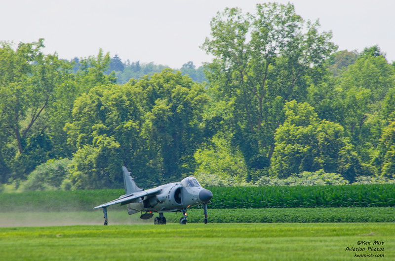 Sea Harrier flown by Art Nalls on a shortened take off roll at the National Warplane Museum Geneseo Airshow.