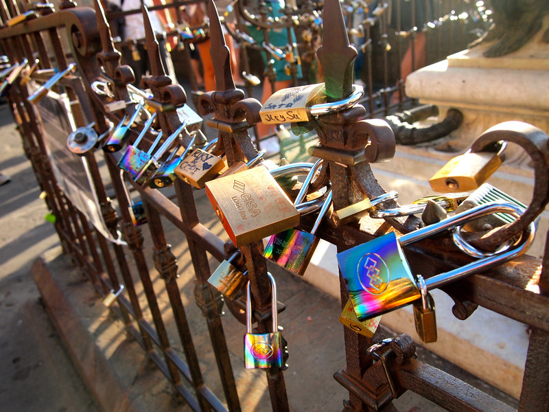 Love locks in Florence