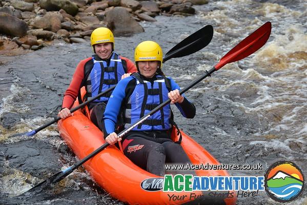 27th June Canoe-Kayaking on the river Findhorn, near Aviemore
