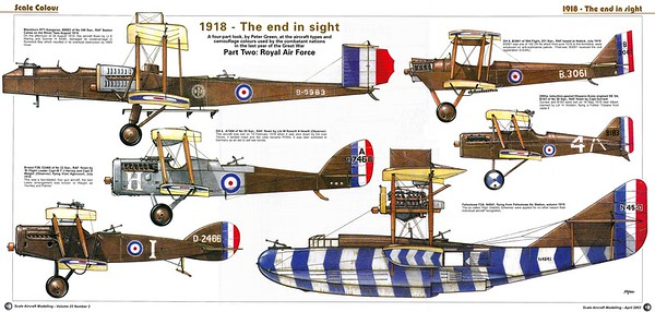 WWI aircraft art by Peter Green