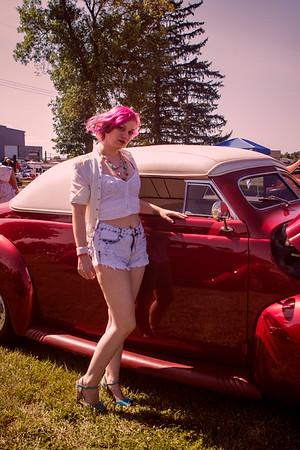 2017  Antique Auto Show  with Nicole
