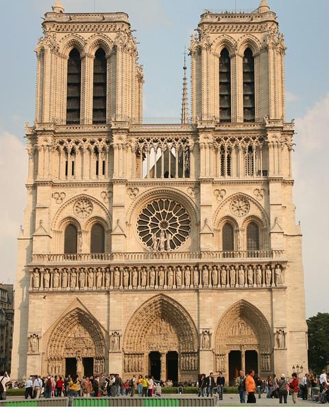 Paris Notre-Dame Cathedral West  Facade