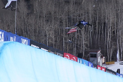 Feb 25, 2015 - Park City, USA, halfpipe qualification