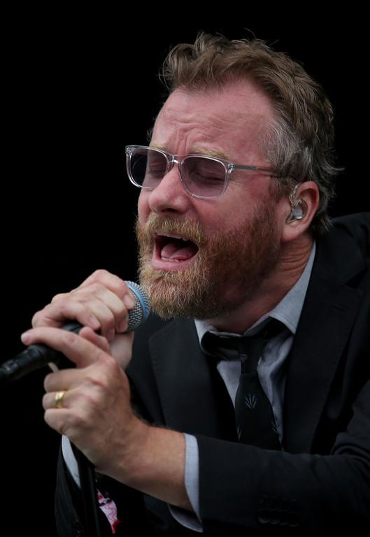. The National lead singer Matt Berninger performs on the Land\'s End stage during the 6th annual Outside Lands Music and Arts Festival in Golden Gate Park in San Francisco, Calif., on Friday, Aug. 9, 2013. (Jane Tyska/Bay Area News Group)