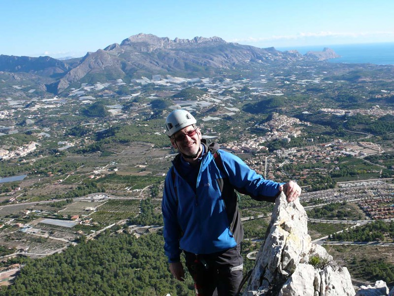 Richard on the summit of Aventador Via Ferrata