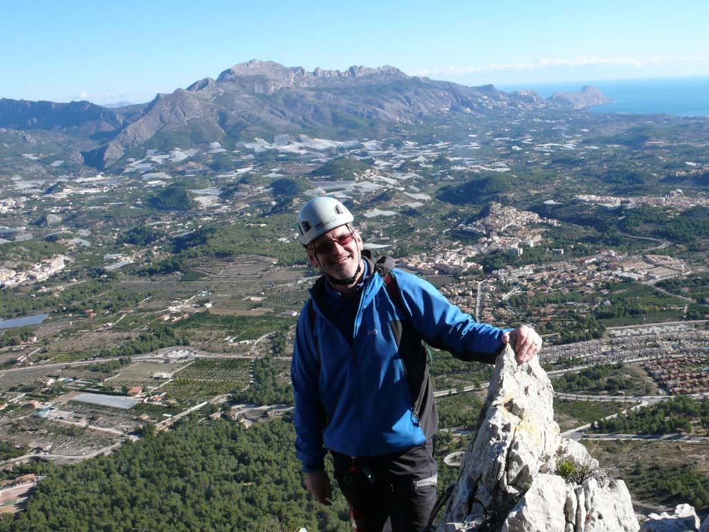 Richard on the summit of Aventador Via Ferrata