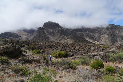 Hiking the volcano - Haleakala crater hike