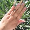 3.12ct Old European Cut Diamond Ruby Halo Ring, GIA L  23