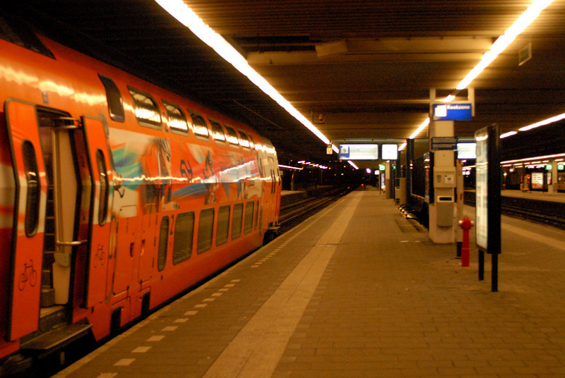 Den Hague Central Station - we just rode this train in from Amsterdam.