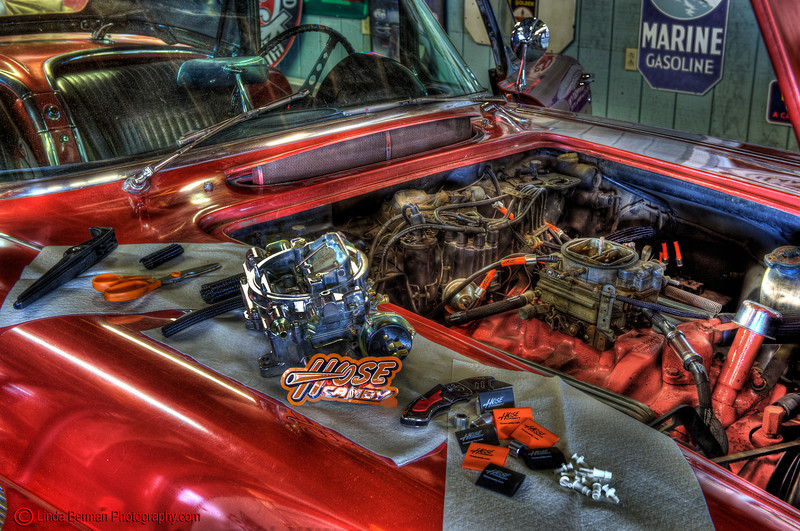 Hose Candy Red Corvette hood 7318 copy.jpg