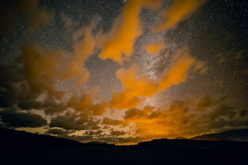 Orange Clouds above Torrey