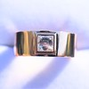 0.40ct Carre Cut Rose Gold Band 6