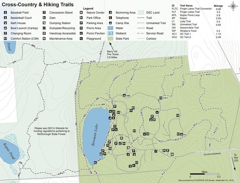 Bowman Lake State Park (Trail Map)