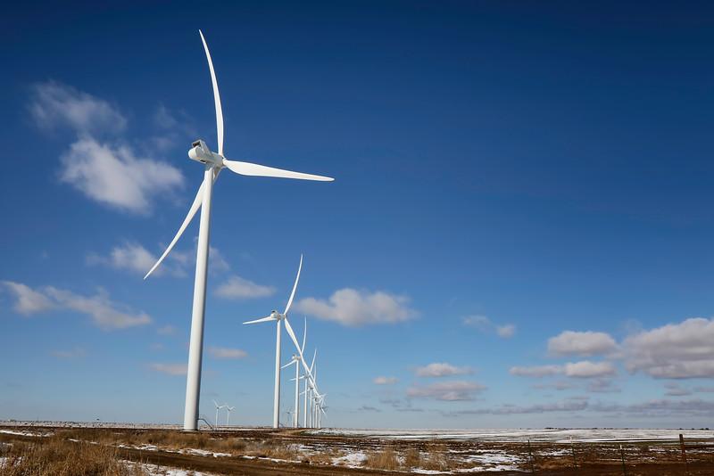 Wind Turbines Outside of Amarillo