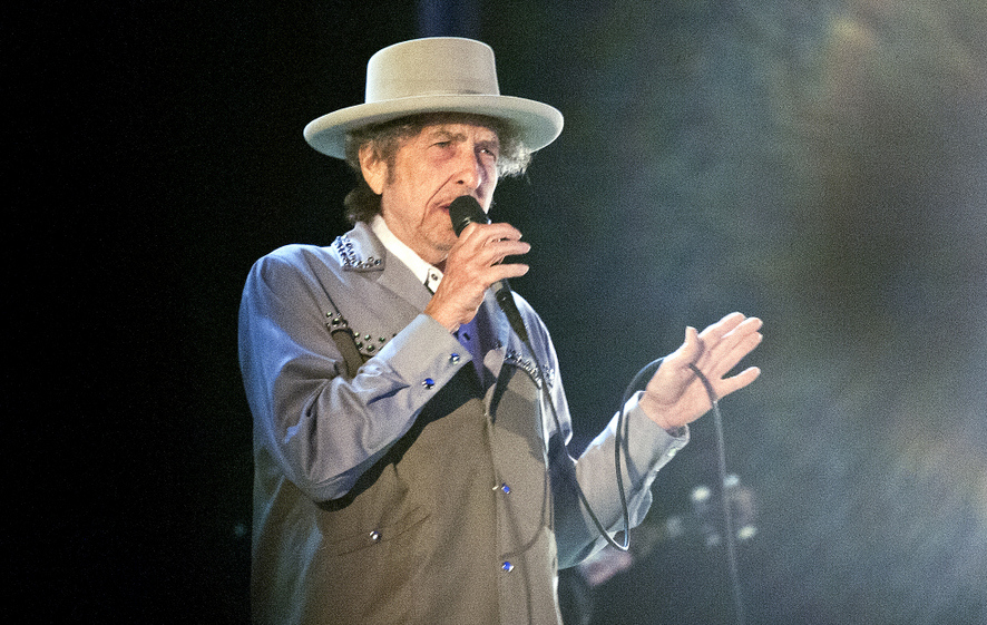 . Music legend and Iron Range native Bob Dylan performs at Duluth\'s Bayfront Festival Park on July 9, 2013 during a stop on the Americanarama Festival of Music. (AP Photo/Duluth News, Clint Austin)