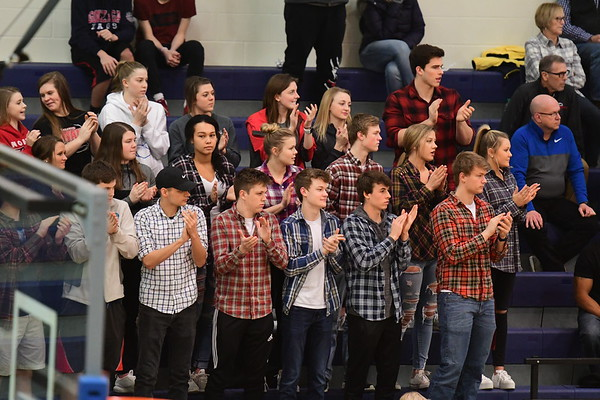 Student Crowd - Crete District Basketball game