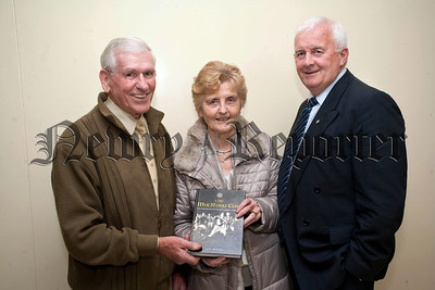St Colman's College hosted the launch of the MacRory Cup book on Monday last,Kevin O'Neill, Mary O'Neill, Jimmy Smyth.RS1448704