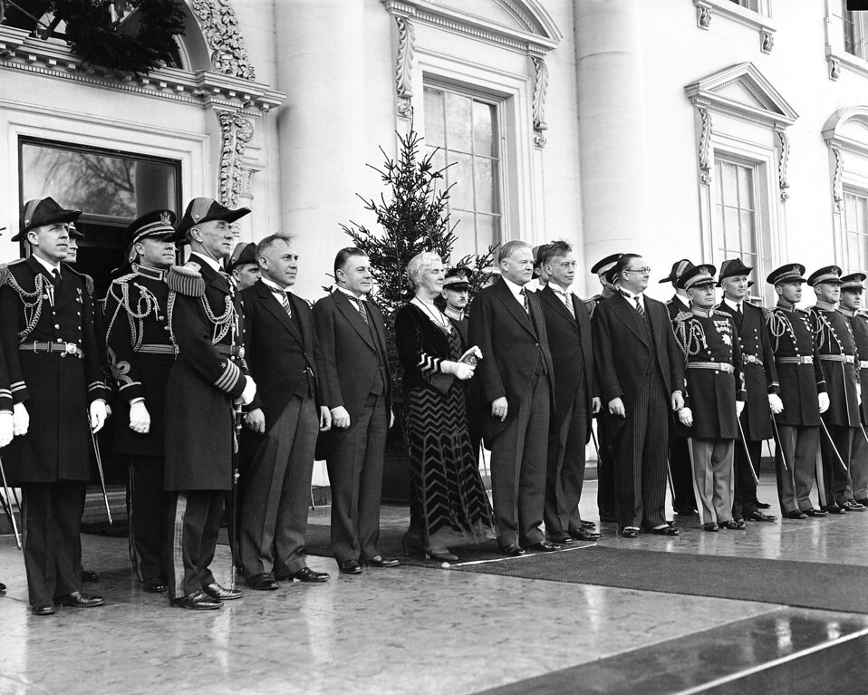 . A photo of President Hoover in a receiving line on the day of his Inauguration in 1929 in Washington, DC. (Photo from The Library of Congress)