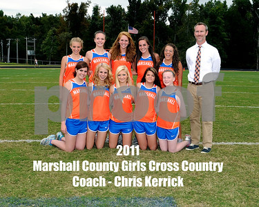 Marshall County 2011 Girls Cross Country Team, September 22, 2011, Chris Kerrick Coach.