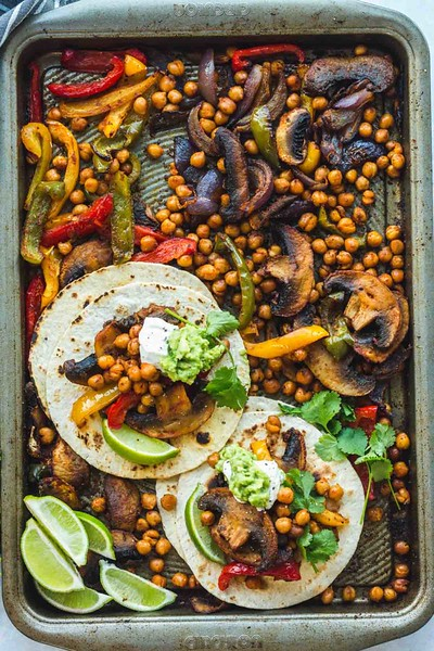 Chickpea Fajitas - vegan Mexican recipes