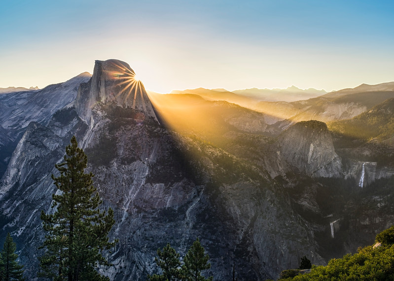 Sunrise Over Half Dome