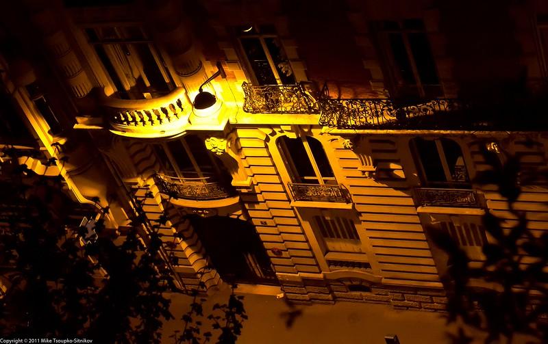 Paris. Rue Danton at night