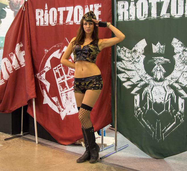 Military girl at Igromir 2013