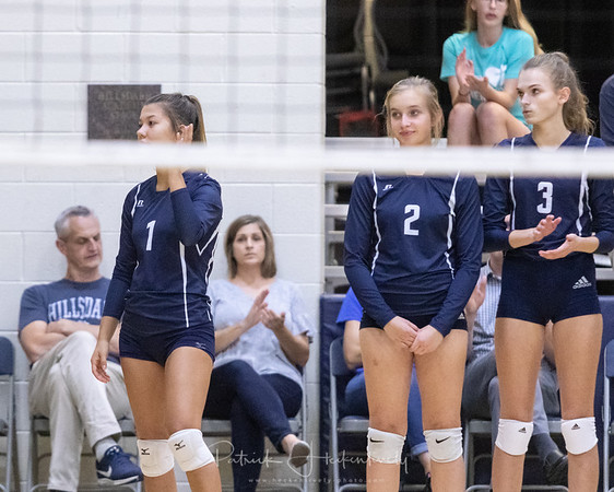 2019-09-12 Hillsdale Academy Varsity Volleyball vs. Litchfield