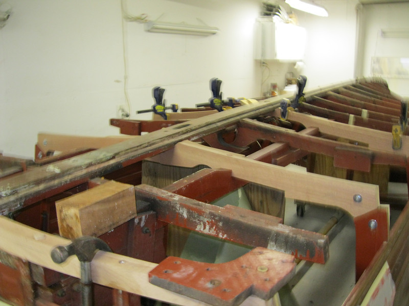 Rear port view of new frames being installed.