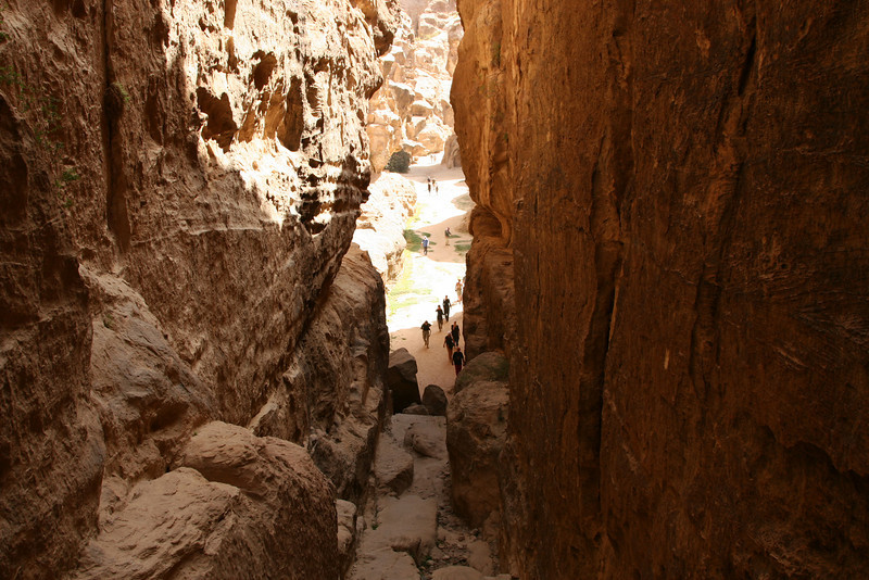 Little Petra (Siq Al-Barid) - The narrow gap at the end of the siq leading through to the next valley.