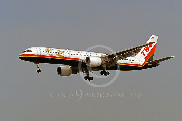 TWA Airline Boeing 757 Airliner Pictures