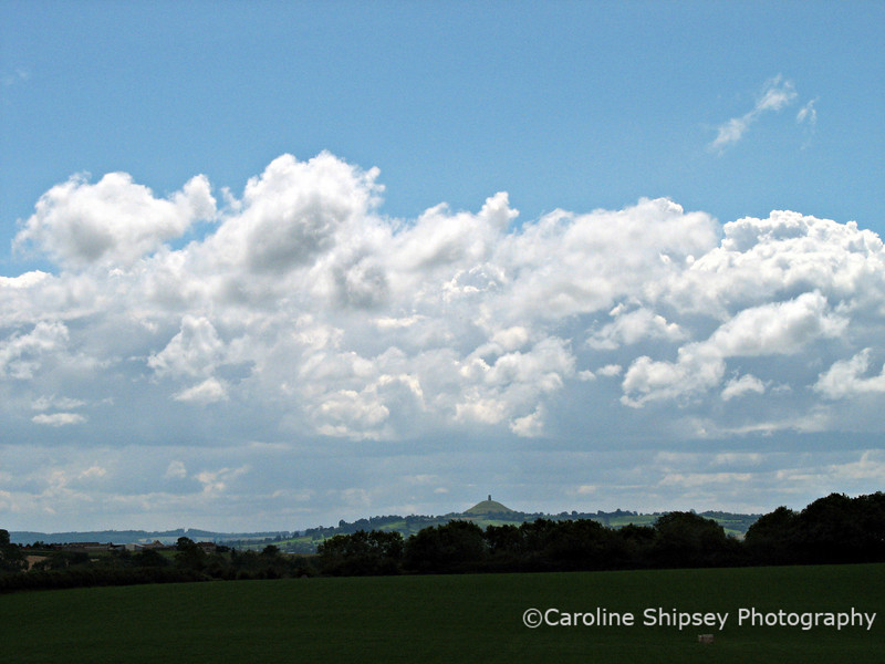 Cumulus mediocris ? over Glastonbury Tor, Somerset.