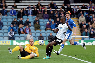 Peterborough United 3 - 0 Derby County  27.10.12 NO FOOTBALL IMAGES FOR SALE OR REPRODUCTION