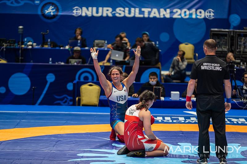 Quarterfinal: Adeline Maria Gray (United States) over Hui Tsz Chang (TAIPEI CHINESE)  •  TF 10-0 - 2019 World Championships