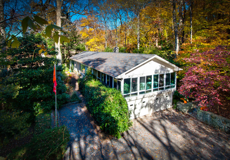 This home is on a very wooded and steep hillside in Forest Hills, TN. An elevated photo was the only way to get a suitable exterior shot for the listing agent. This home is listed by Bill Bainbridge, Keller-Williams.