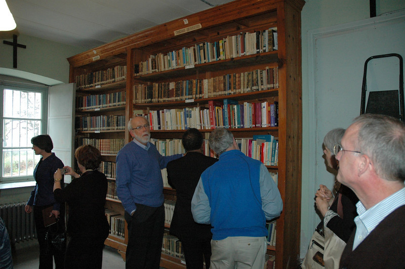 The ELCA delegation visits the library of the Theological School of Halki, Feb. 7.  The library houses some 60,000 volumes and is used by researchers and journalists.