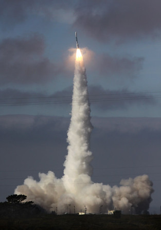 ULA Delta ll launches WorldView 2 from Vandenberg AFB. CA.10-8-2009